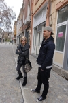 Tom and Sasha in old town